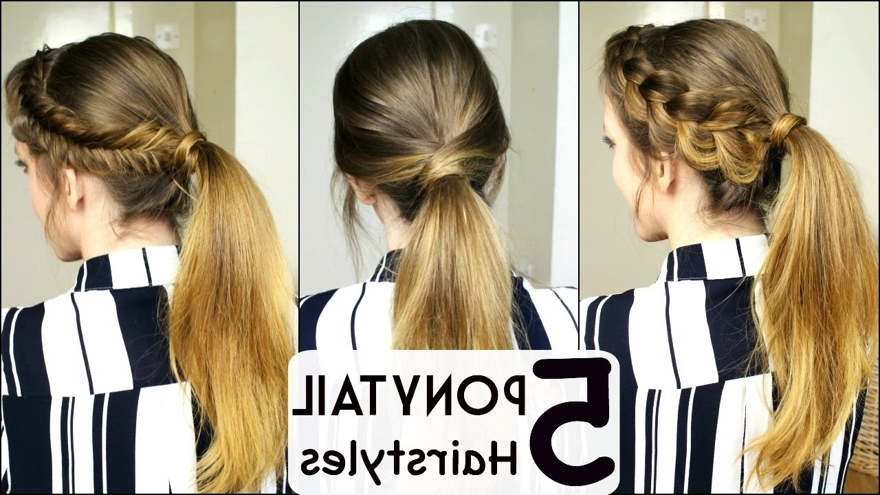 Braided Ponytail Hairstyles For Widely Used Cute And Carefree Ponytail Hairstyles (View 5 of 20)