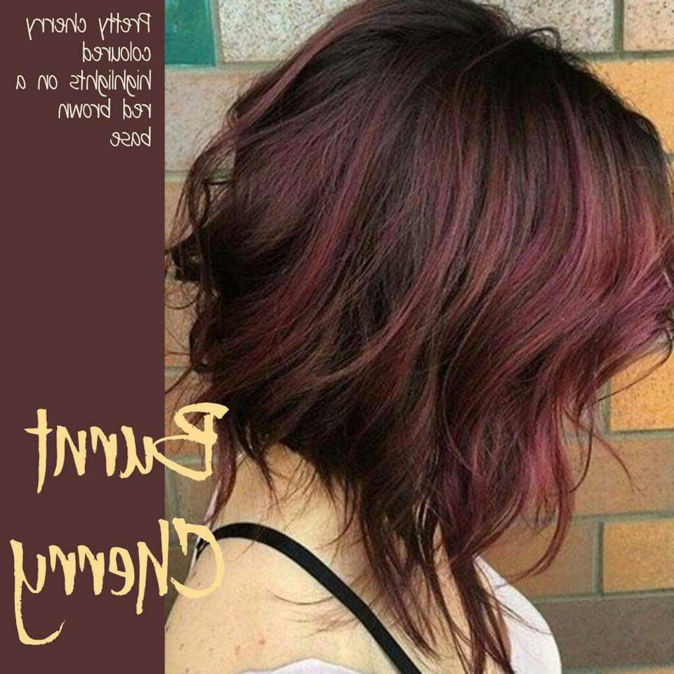 Burnt Cherry | Hair Ideas | Pinterest | Hair, Hair Styles And Hair Cuts With Burgundy And Tangerine Piecey Bob Hairstyles (View 15 of 20)