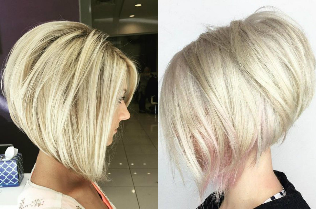 Business Style Stacked Bob Hairstyles 2017 | Hairdrome In Messy Honey Blonde Bob Haircuts (View 11 of 20)