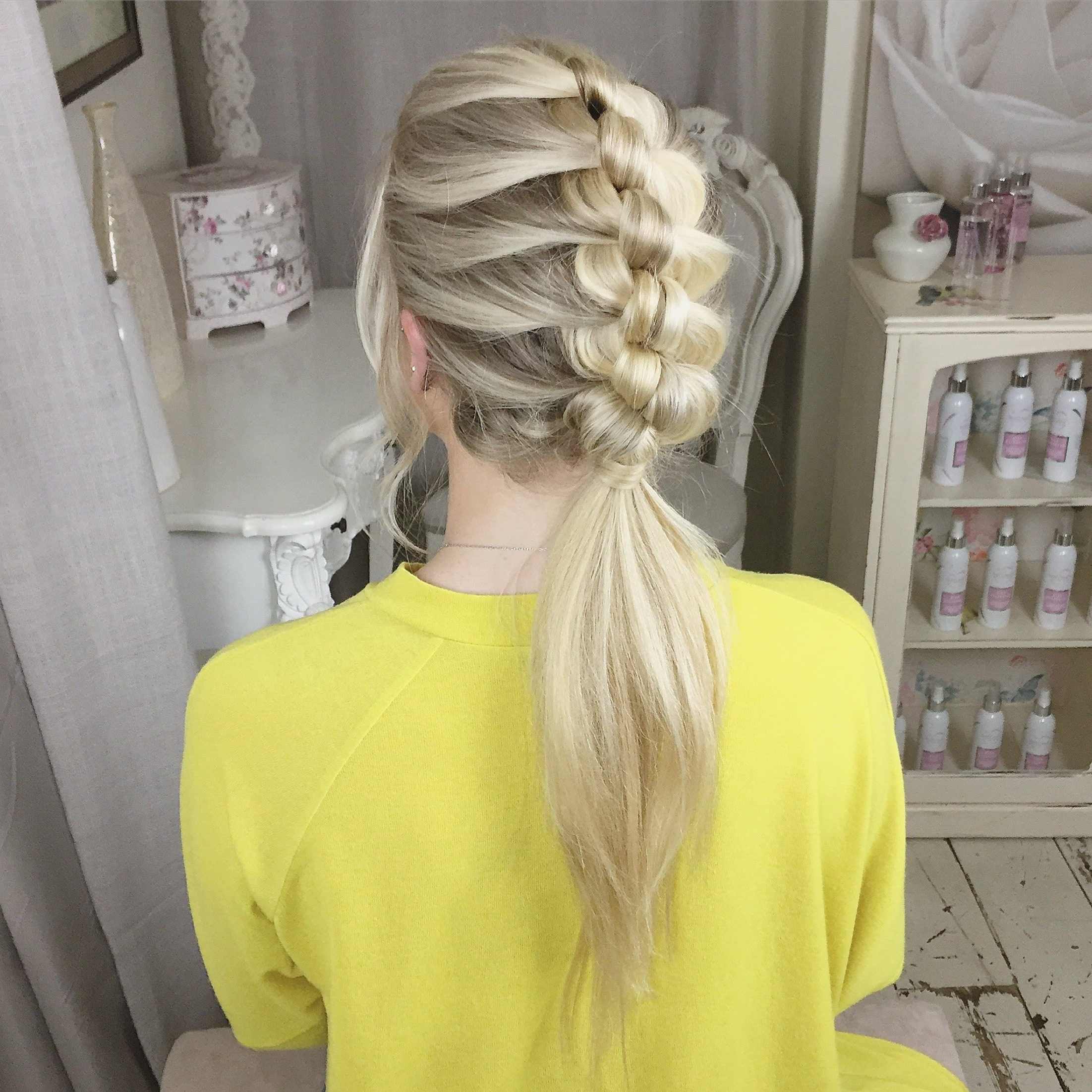 By Using The Simple Technique Of Knotting You Can Create This For 2017 Artistically Undone Braid Ponytail Hairstyles (View 11 of 20)