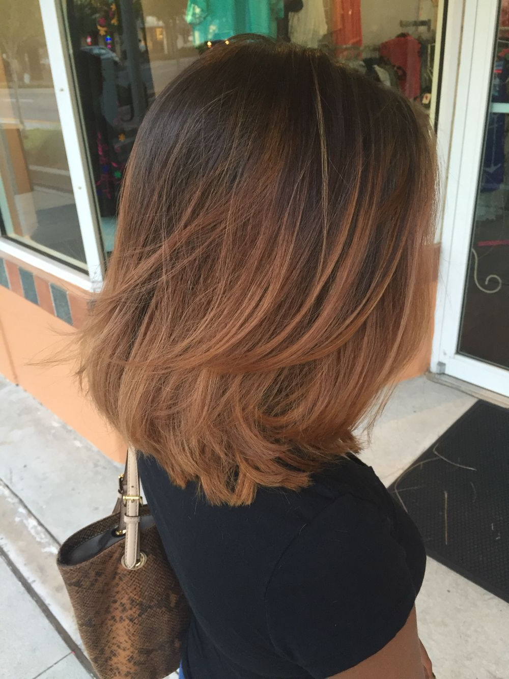 Cabelos E Penteados Mais | Hair | Pinterest | Long Bob, Bobs And With Regard To Short And Long Layer Hairstyles (View 14 of 20)