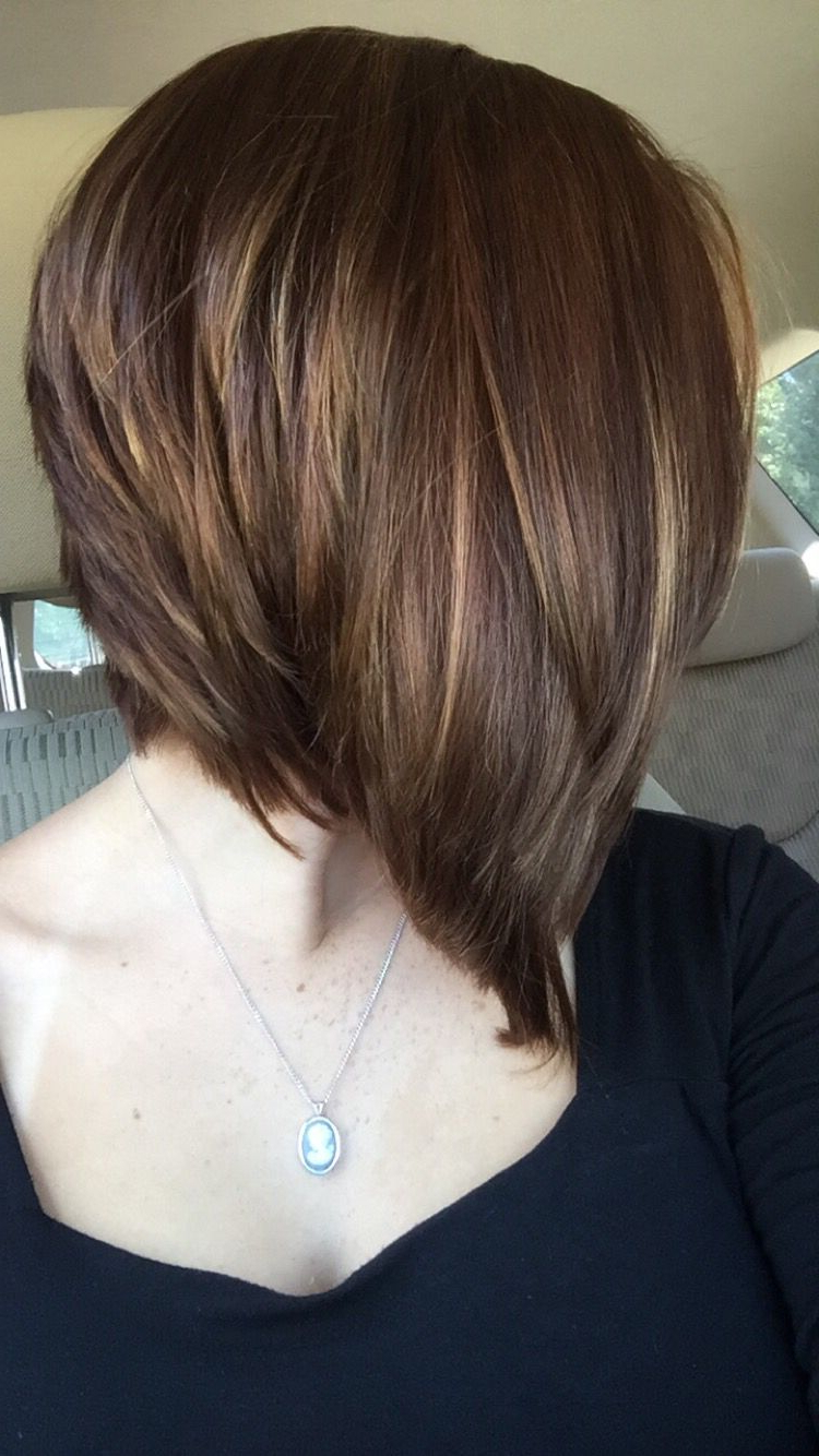 Featured Photo of Perfectly Angled Caramel Bob Haircuts