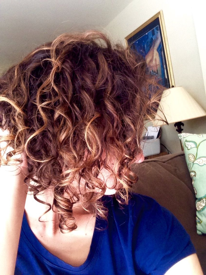 Caramel Balayage In Short Curly Hair   Hairstyles To Try In 2018 Within Simple Short Hairstyles With Scrunched Curls (View 12 of 20)