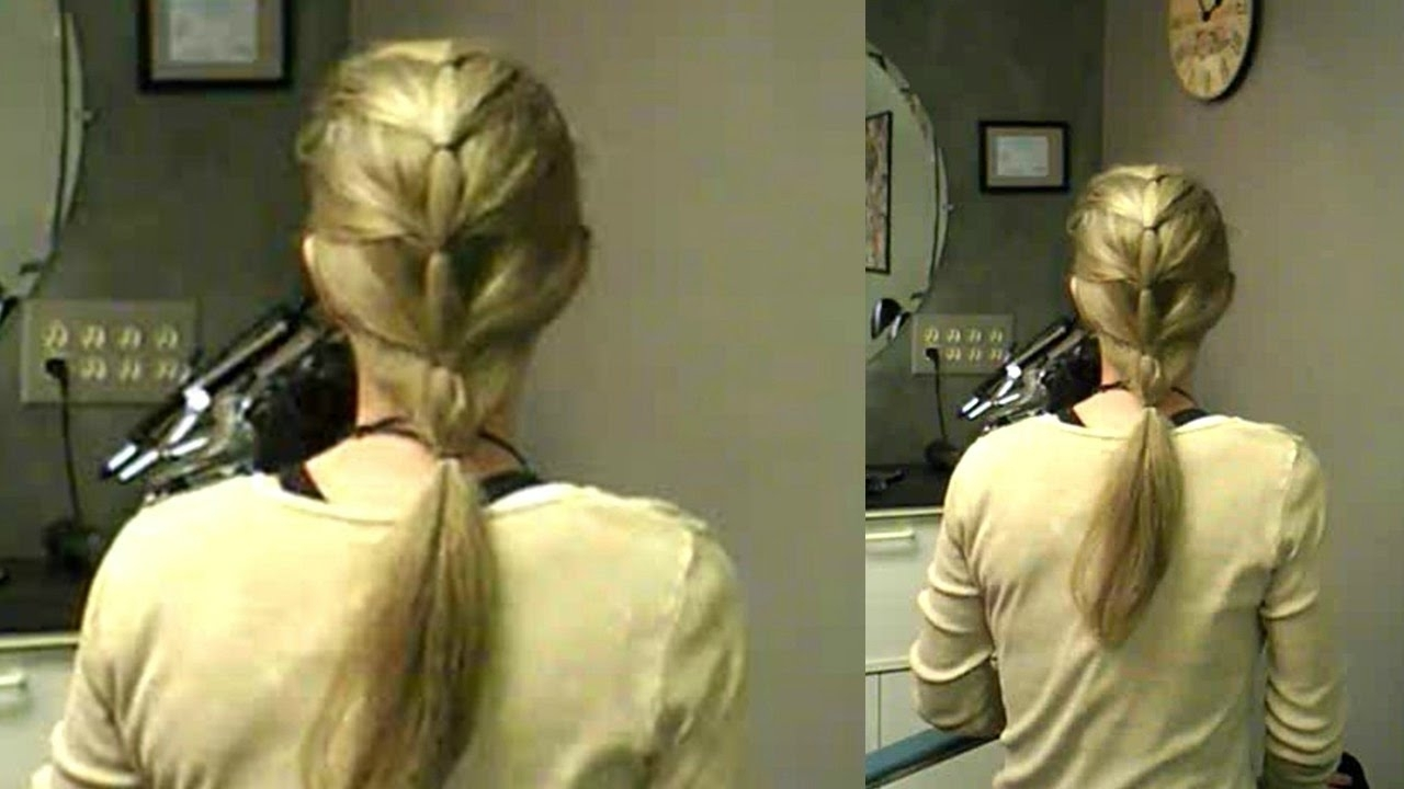 Cascading Ponytail Hairstyle Easy Beginner Braids For Learning How With Most Up To Date Cascading Braided Ponytails (View 6 of 20)