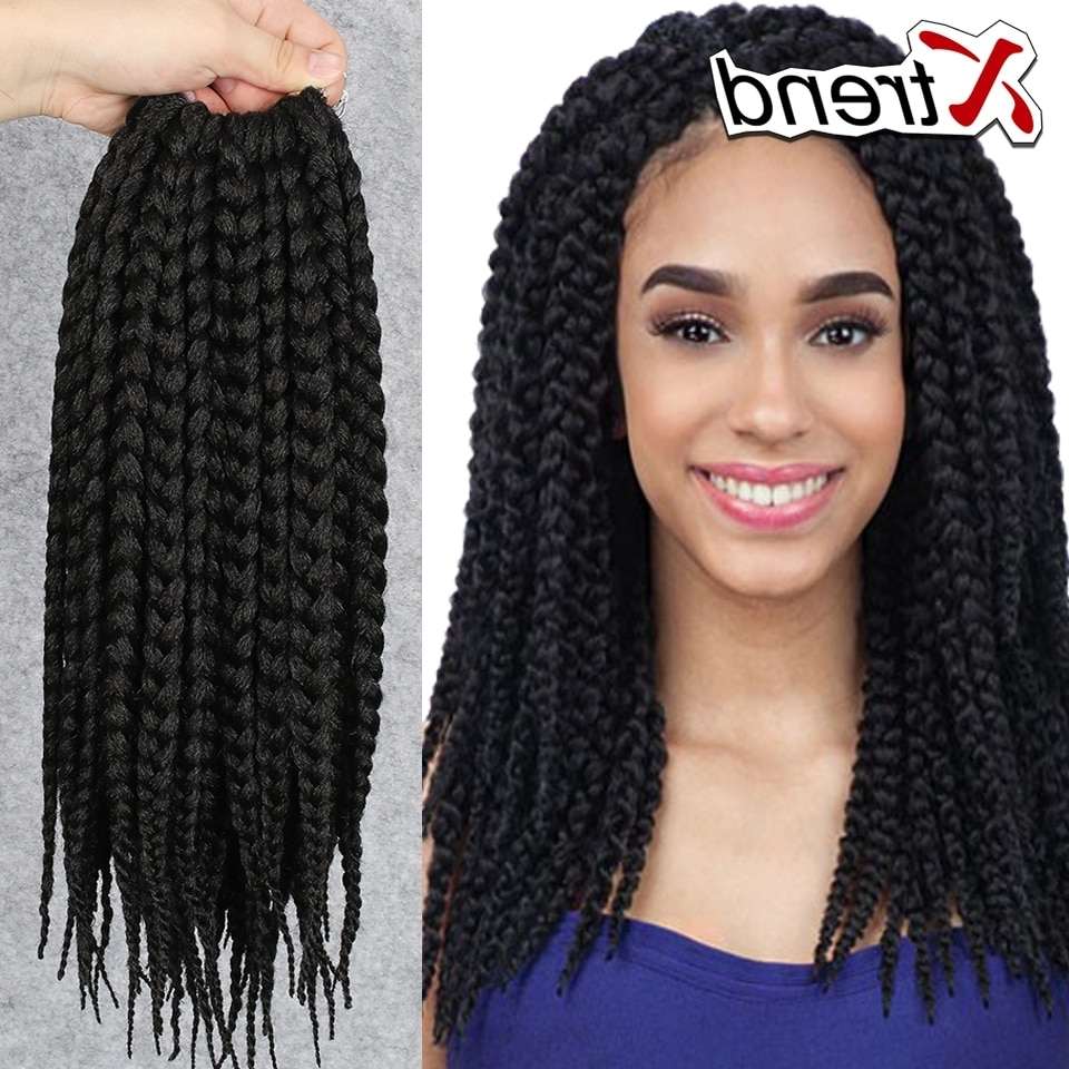 Cheapest 12'' 75G Box Braids Hair Crochet Multi Color Synthetic With Regard To Widely Used Multicolored Jumbo Braid Ponytail Hairstyles (View 4 of 20)