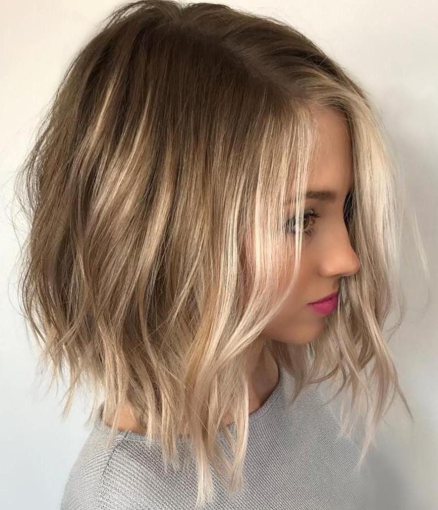 Choppy Blonde Balayage Bob | Peinados | Pinterest | Blonde Balayage Throughout Choppy Golden Blonde Balayage Bob Hairstyles (View 16 of 20)