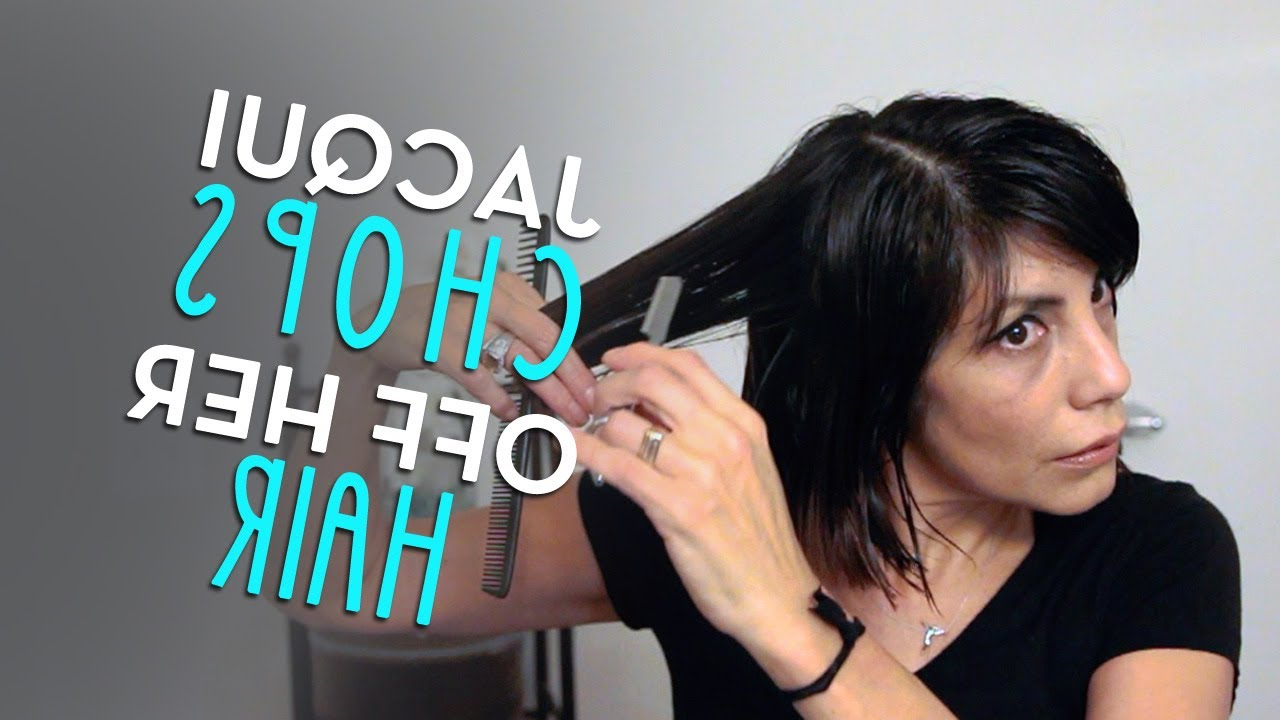 Choppy Bob 2014jacqui Davis (from Long To Short Hair Cut) – Youtube In Choppy Pixie Bob Haircuts With Stacked Nape (View 17 of 20)