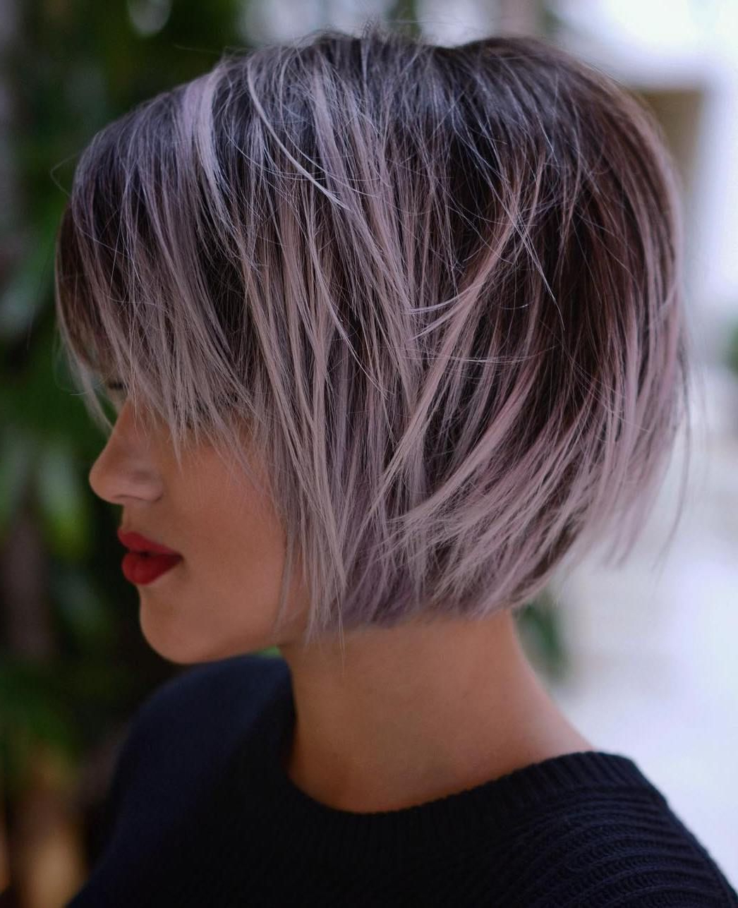 Featured Photo of Choppy Brown And Lavender Bob Hairstyles