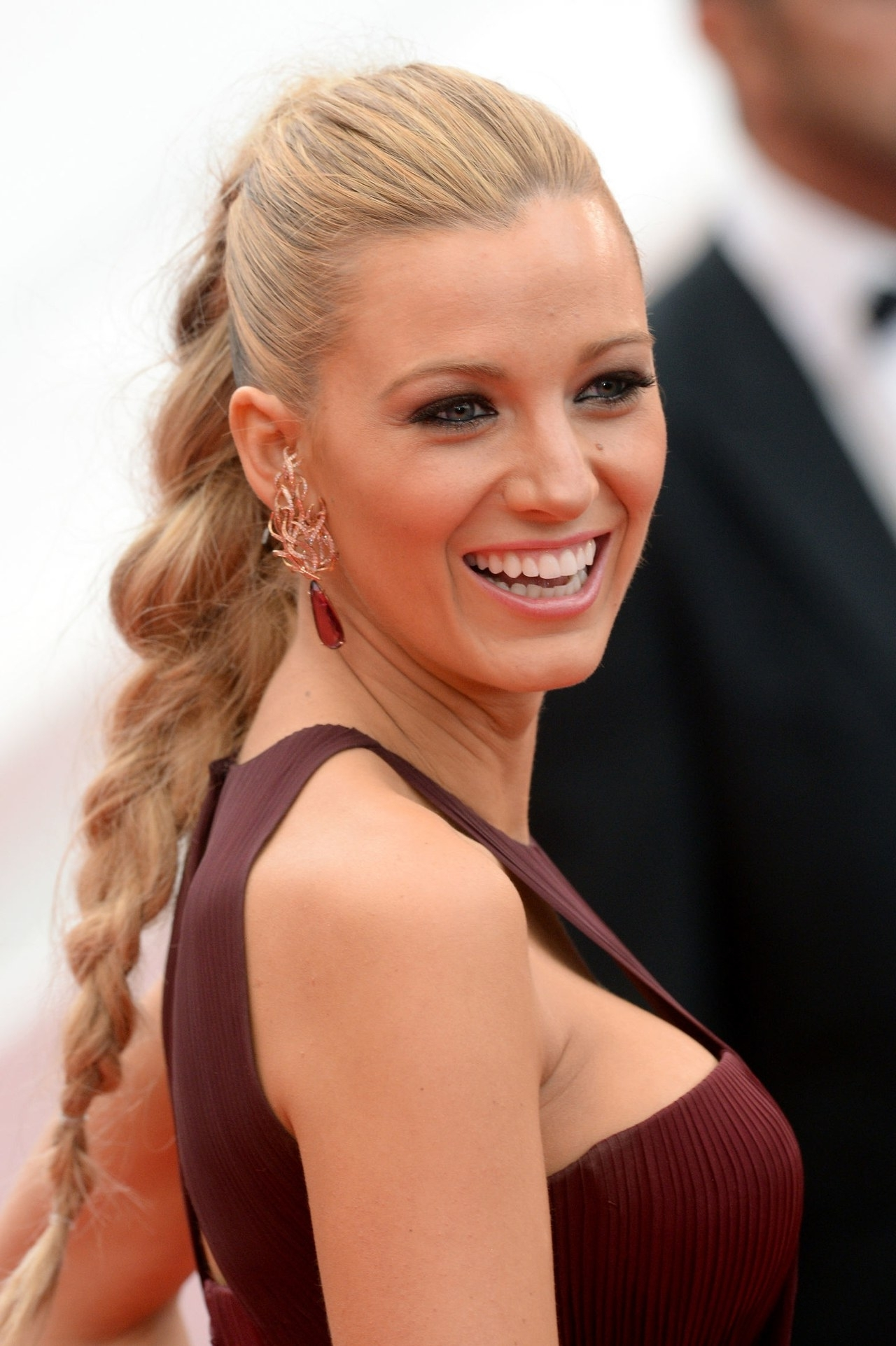 Close Ups Of Blake Lively's Braid Ponytail Hairstyle From The 2014 Within 2017 Pretty Plaited Ponytails (View 7 of 20)