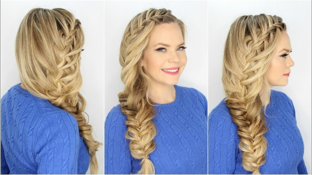 Combination Hairstyles – Youtube For Well Liked Cascading Braided Ponytails (View 8 of 20)
