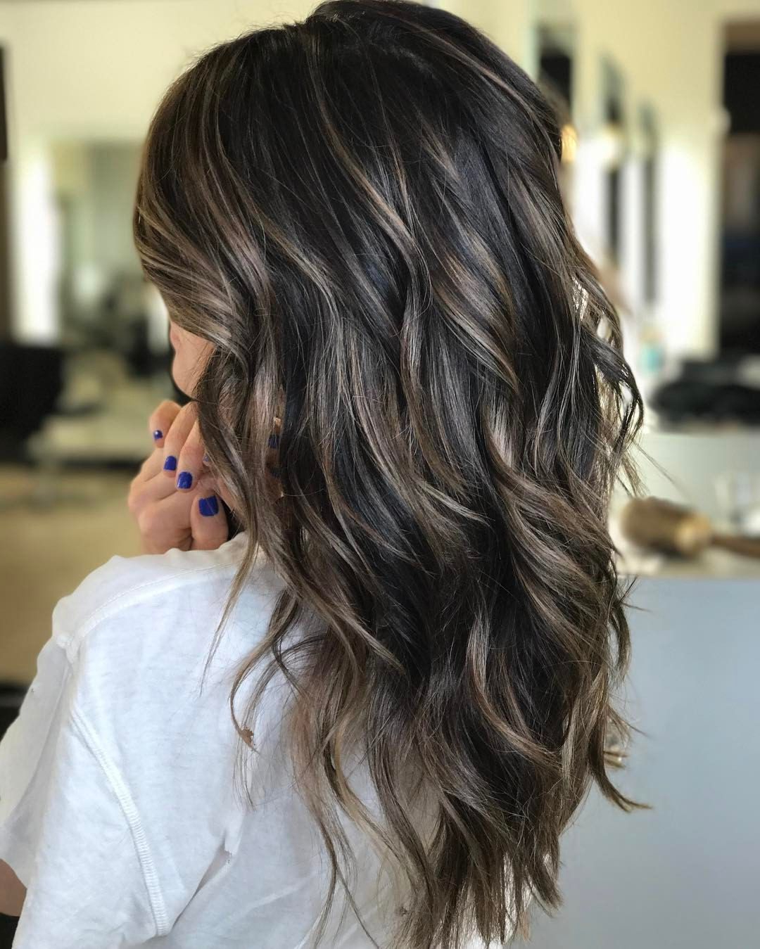 Cool Brunette + Piecey Bronde Babylights ✨ | Brilliant Brunettes With Short Bob Hairstyles With Piece Y Layers And Babylights (View 15 of 20)