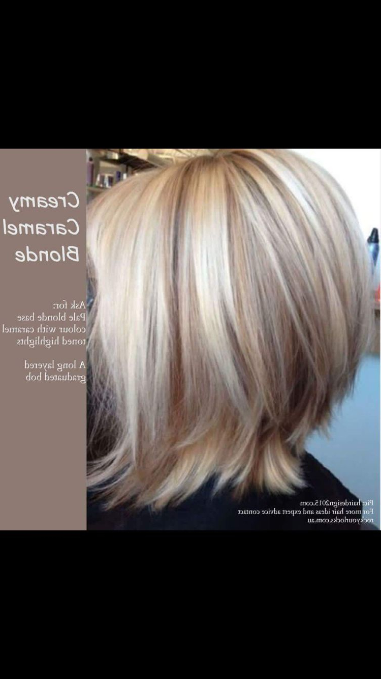 Creamy Carmel Blonde | Hair Styles/ Colors | Pinterest | Hair, Hair For Caramel Blonde Rounded Layered Bob Hairstyles (View 9 of 20)