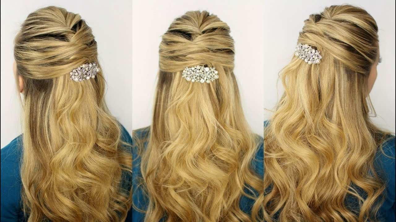 Criss Cross Half Updo – Youtube With Regard To 2018 Criss Cross Side Ponytails (View 5 of 20)