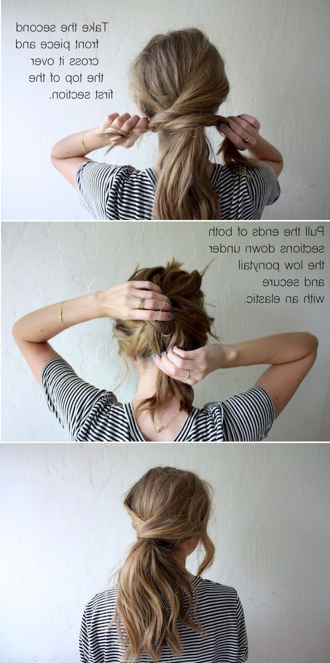 Criss Cross Low Ponytail … (View 6 of 20)