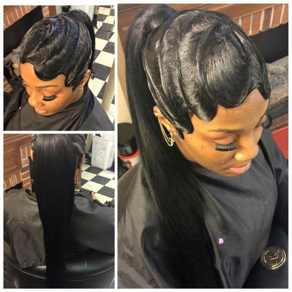 Curls, Buns, Braids, Bobs, Knots, And Inside Trendy Sculpted And Constructed Black Ponytail Hairstyles (View 4 of 20)