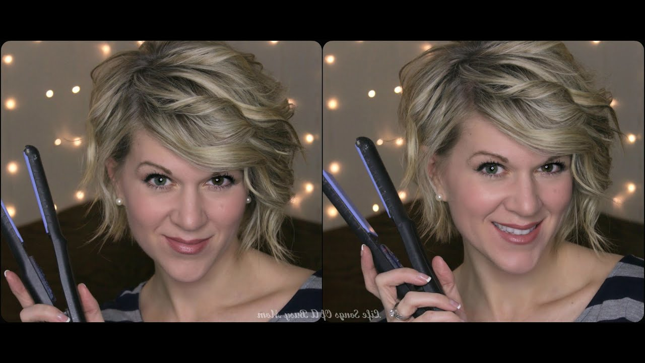 Curly Hair Tutorial For Inverted Or Stacked Bob –Using A Flat Iron In Stacked Curly Bob Hairstyles (View 7 of 20)