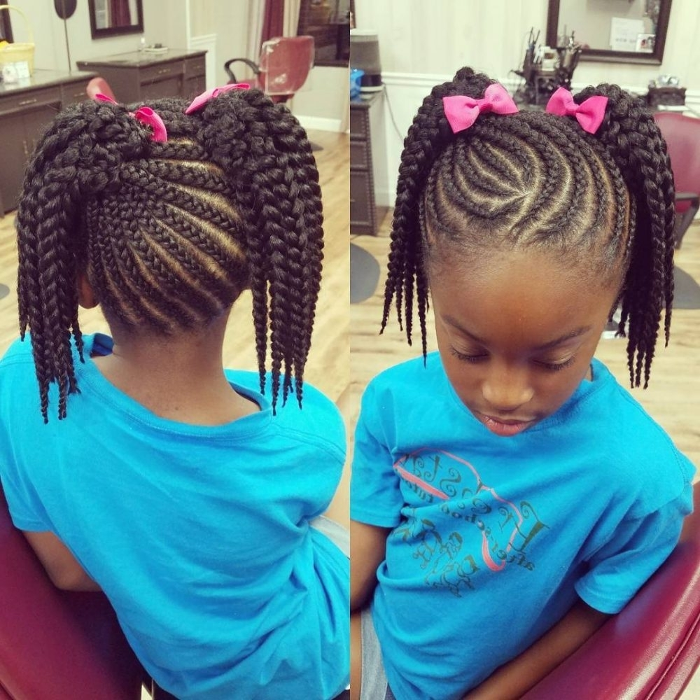 Current Beach Friendly Braided Ponytails Inside 18 Stinkin' Cute Black Kid Hairstyles You Can Do At Home (View 12 of 20)