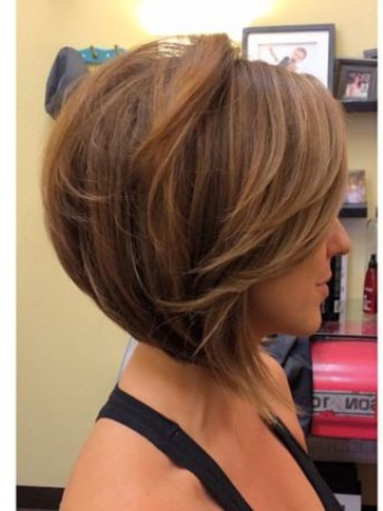 Cut; Inverted Bob With Side Swept Fringe, Though Hate Those Long For Short Tapered Bob Hairstyles With Long Bangs (View 12 of 20)