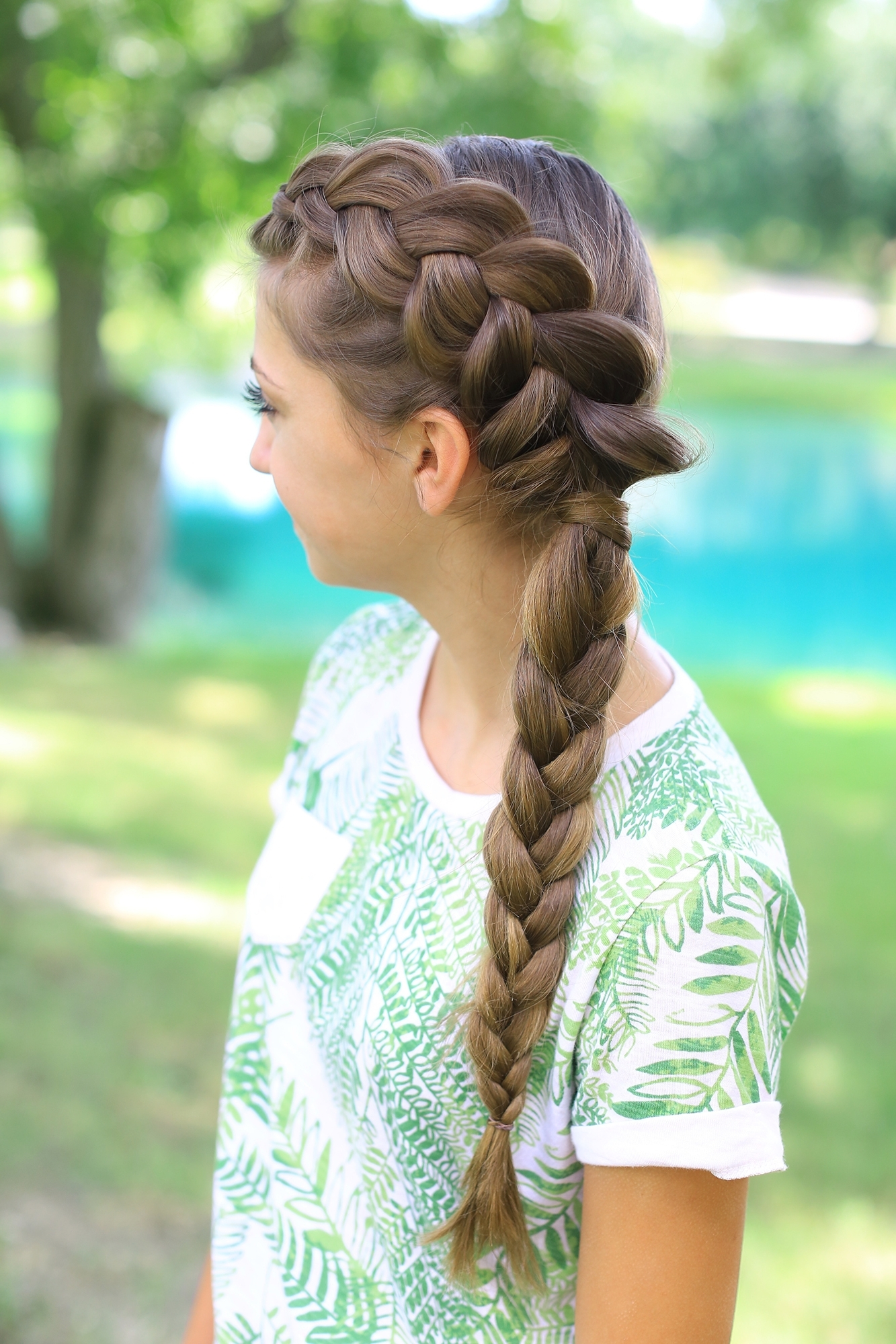 Cute Girls Hairstyles In Famous Pony And Dutch Braid Combo Hairstyles (View 5 of 20)