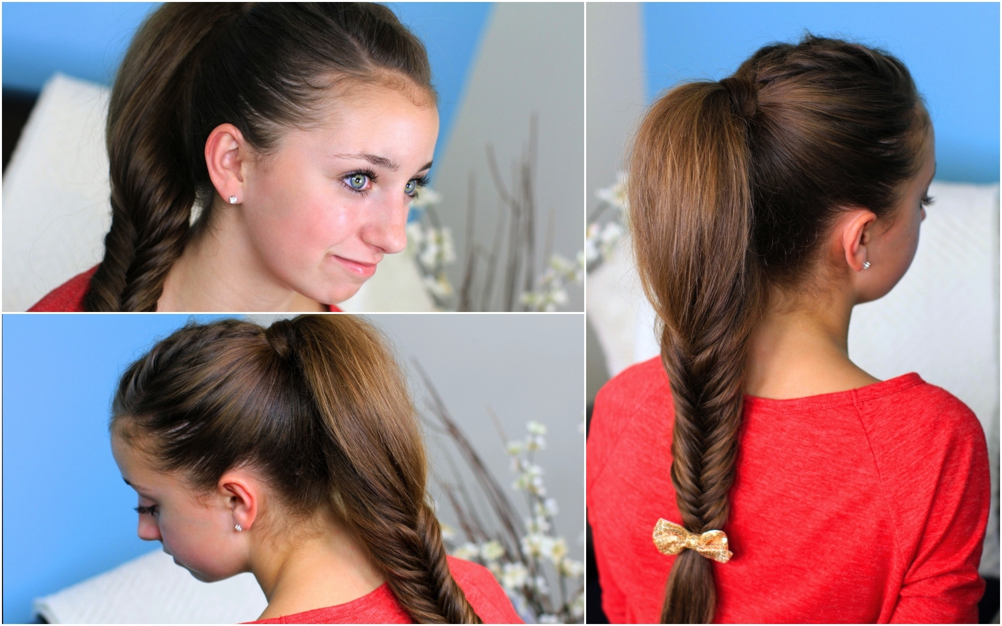 Cute Girls Hairstyles Throughout Well Known Fishtail Braid Ponytails (View 8 of 20)