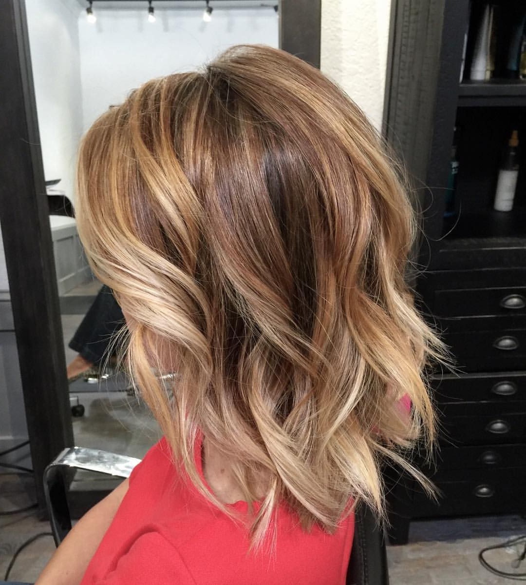 Cute Hairstyle – Bronde Bob With Beach Waves | Beautiful Hair And Throughout Tousled Wavy Bronde Bob Hairstyles (View 8 of 20)