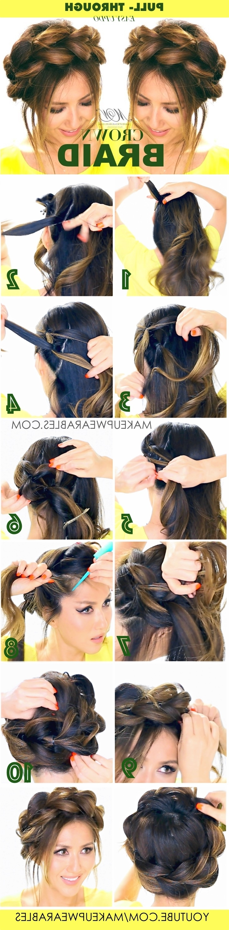 Cute Hairstyles – Makeupwearables Pertaining To Famous Braided Crown Pony Hairstyles (View 6 of 20)