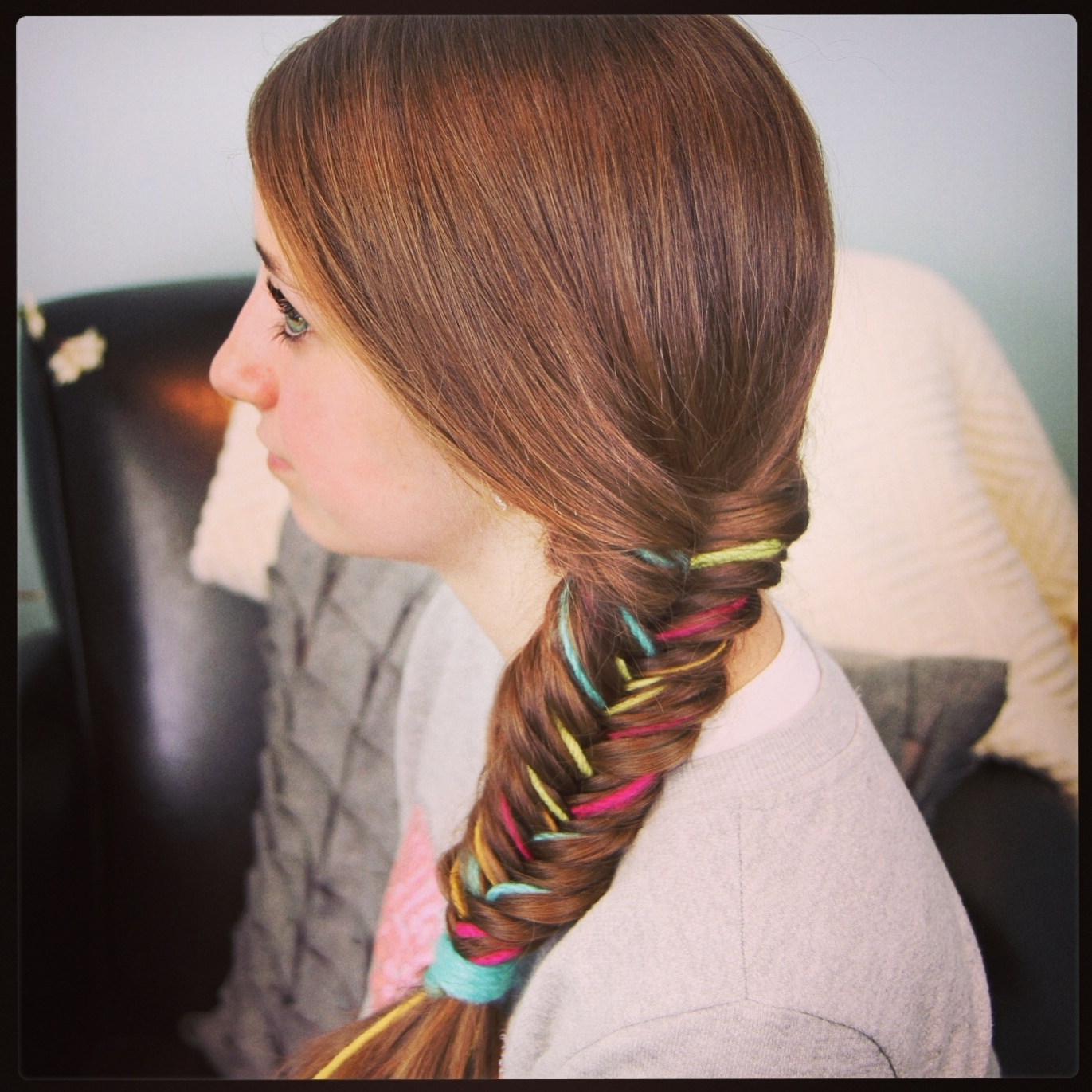 Cute Inside 2017 Fishtail Ponytails With Hair Extensions (View 7 of 20)