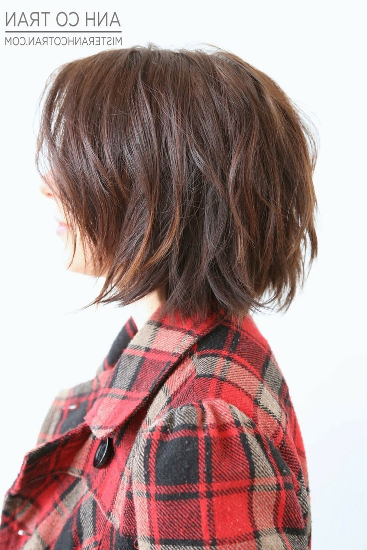 Cute Short Shaggy Bob …   Beauty In 2018… Inside Simple Short Hairstyles With Scrunched Curls (View 13 of 20)