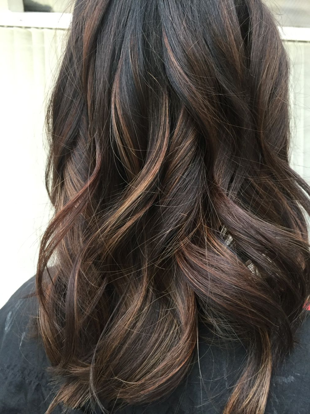 Featured Photo of Curly Dark Brown Bob Hairstyles With Partial Balayage