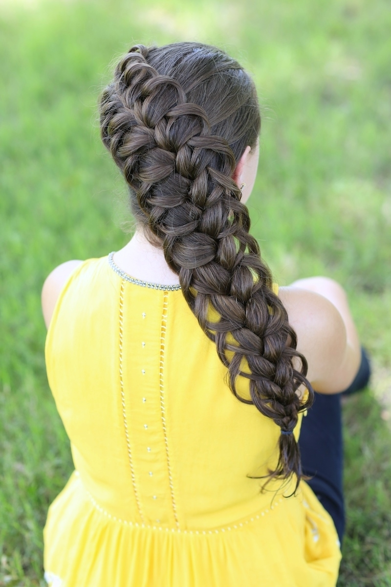 Diagonal, French, Loop Braid For Girls (Gallery 13 of 20)