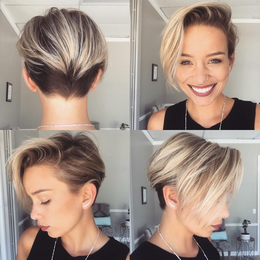 Disconnected Blonde Pixie Haircut | Hair | Pinterest | Hair, Short Intended For Disconnected Pixie Hairstyles For Short Hair (View 11 of 20)