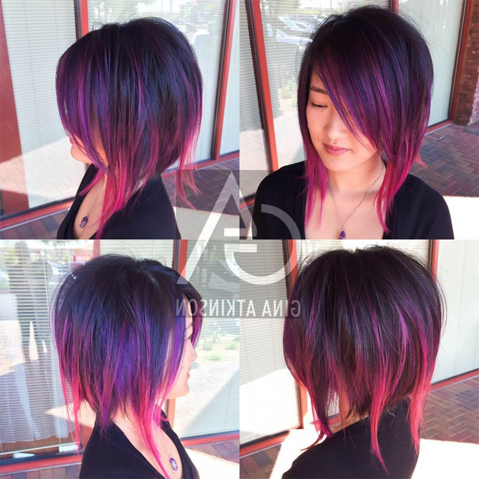 Disconnected Bob | Hair | Cuts | Edgy | Pinterest | Hair, Hair Cuts Inside Extreme Angled Bob Haircuts With Pink Peek A Boos (View 9 of 20)