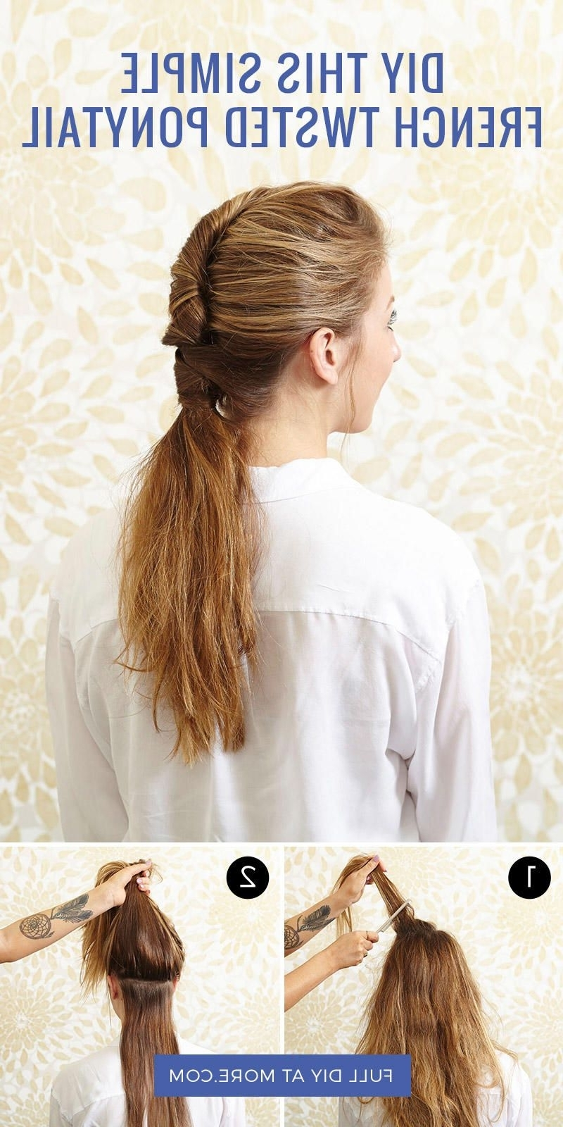 Easy Hair Within Famous Tangled And Twisted Ponytail Hairstyles (Gallery 20 of 20)