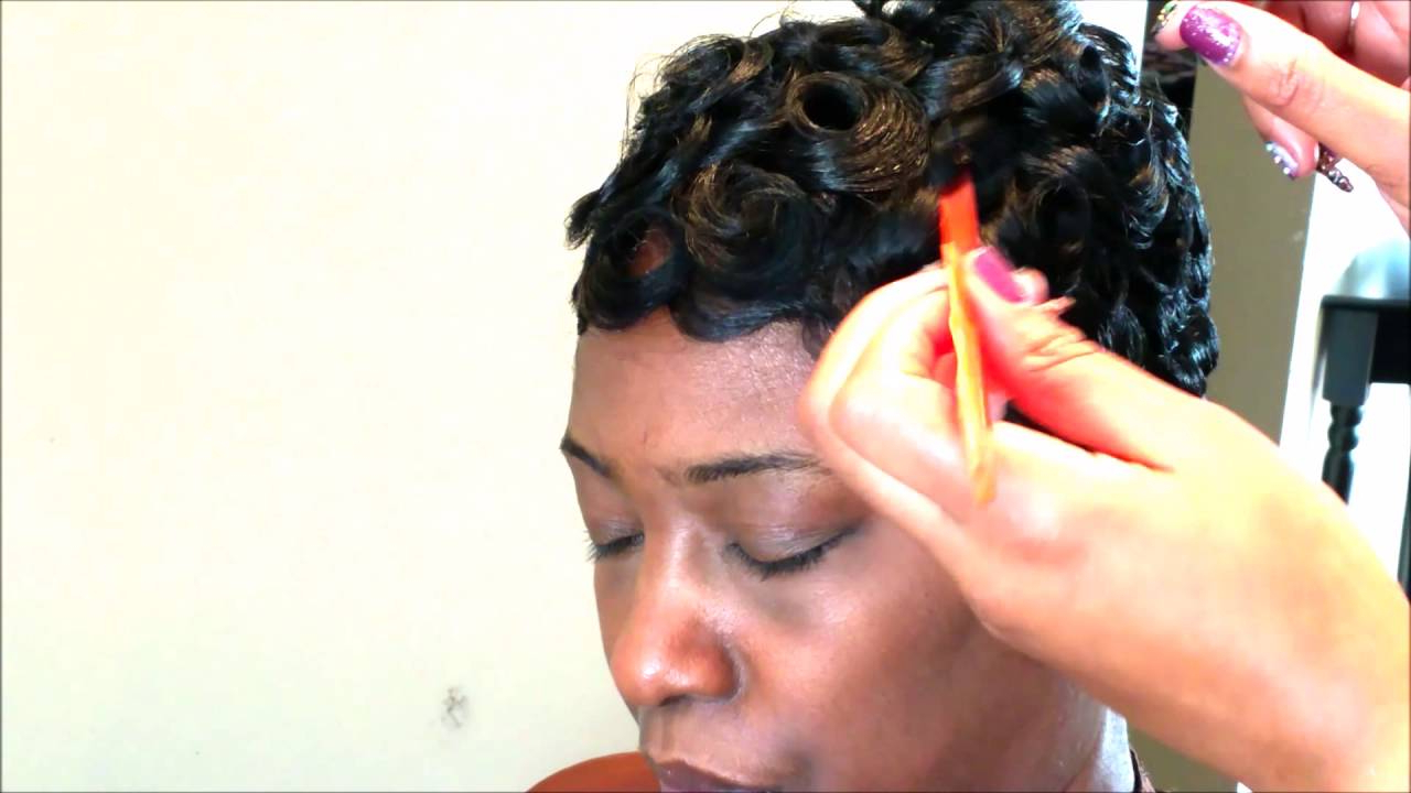 Easy Pincurl Soft Fingerwave Short Hair Full Tutorial – Youtube Regarding Soft Curly Tapered Pixie Hairstyles (Gallery 19 of 20)