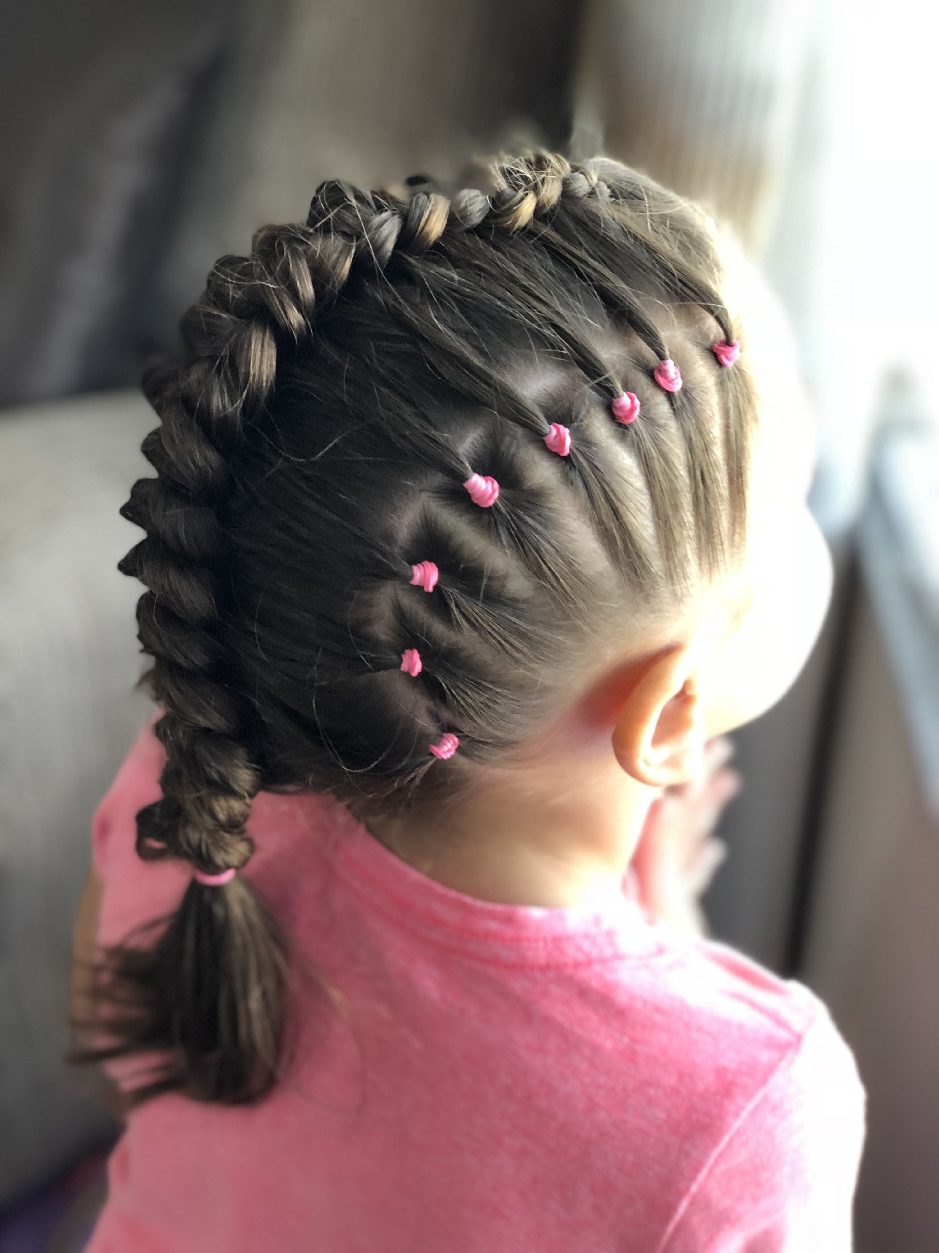 Elastics And Dutch Braid Combo— This One Came Out Awesome Regarding Most Recently Released Pony And Dutch Braid Combo Hairstyles (Gallery 11 of 20)