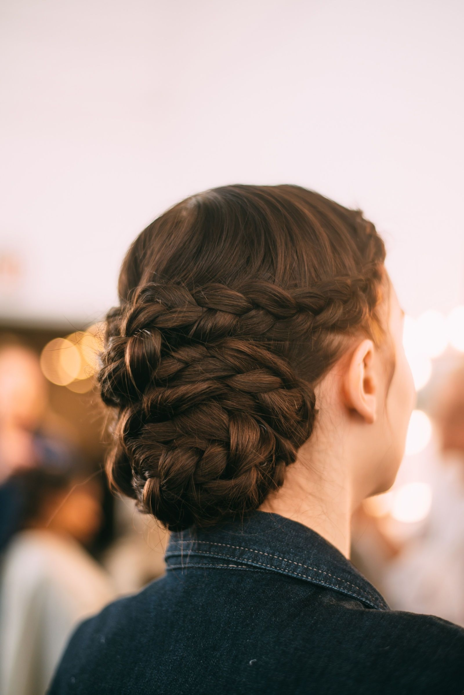 Famous Braided Maze Low Ponytail Hairstyles Throughout The Best Beauty Looks From Bridal Fashion Week Spring (View 13 of 20)