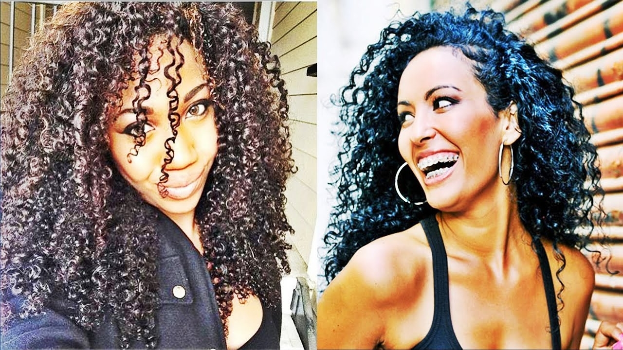 Fashionable Black Curly Ponytails With Headband Braid Within Latest Beautiful Curly Braid Hairstyles For African American Women (View 7 of 20)
