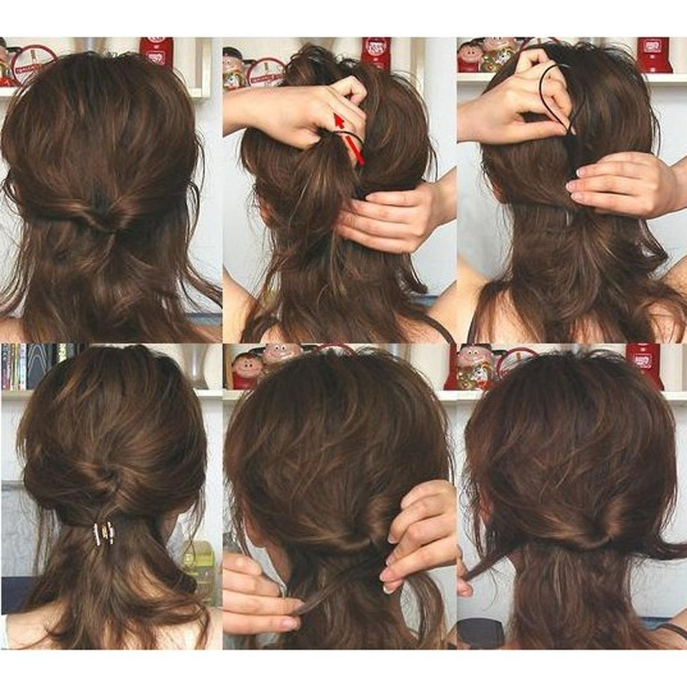 Fashionable Topsy Tail Low Ponytails With 4Pcs Hair Styling Updo Set Bun Maker Clip Comb Ponytail Hair Twist (View 9 of 20)