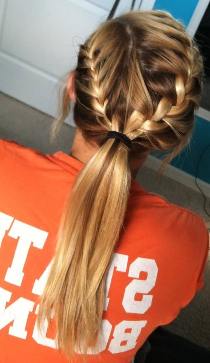 Fashionable Triple Braid Ponytail Hairstyles Pertaining To 50 Inspiring Ideas For French Braids That Stand Out In  (View 10 of 20)