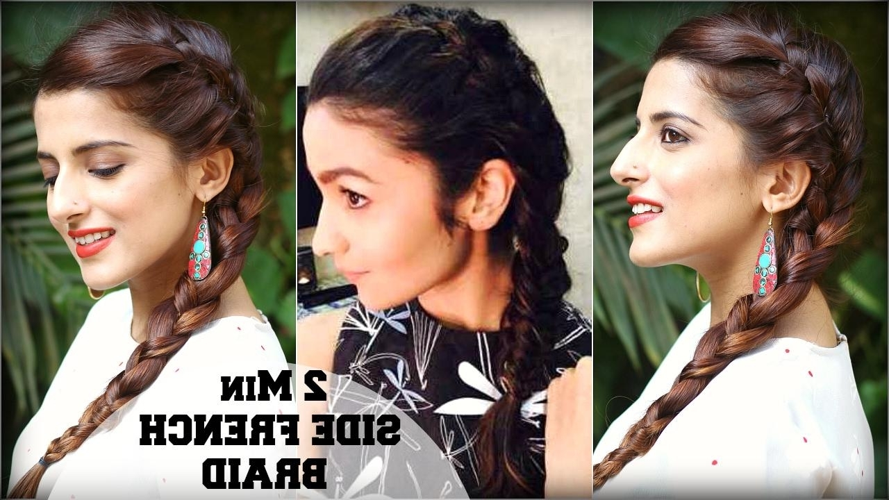 Favorite 2 Minute Side Pony Hairstyles Inside Discover Alia Bhatt Hairstyle On Roposo (View 9 of 20)