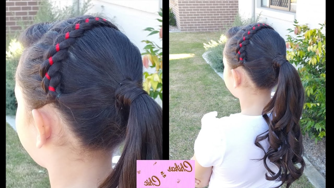 Favorite Black Curly Ponytails With Headband Braid With Ribbon Headband Into Curly Ponytail! (View 8 of 20)