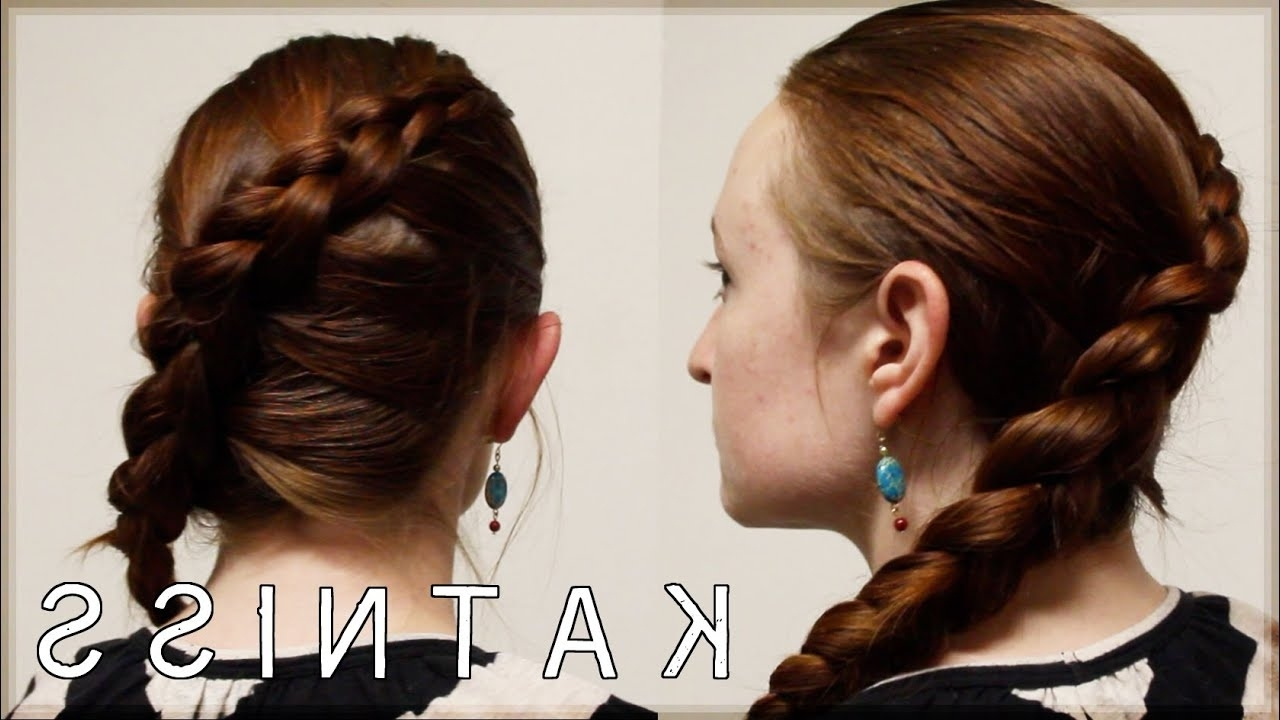 Favorite Fantastical French Braid Ponytail Hairstyles With Hunger Games Hair Tutorial – Katniss Games Braid – Youtube (View 7 of 20)