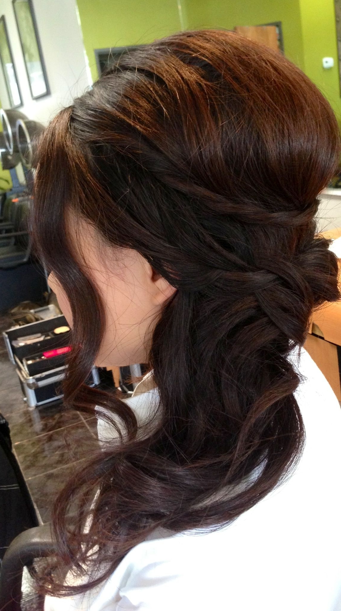 Favorite Pumped Up Side Pony Hairstyles With Wedding Updo, Wedding Hair, Bridal Hair, Curls, Side Ponytail, Asian (View 9 of 20)
