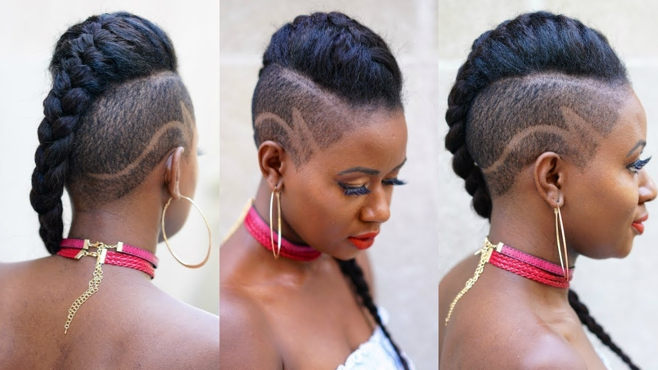 Fierce Tapered Cut Braided Style – Youtube Intended For Most Up To Date Fiercely Braided Ponytail Hairstyles (View 9 of 20)