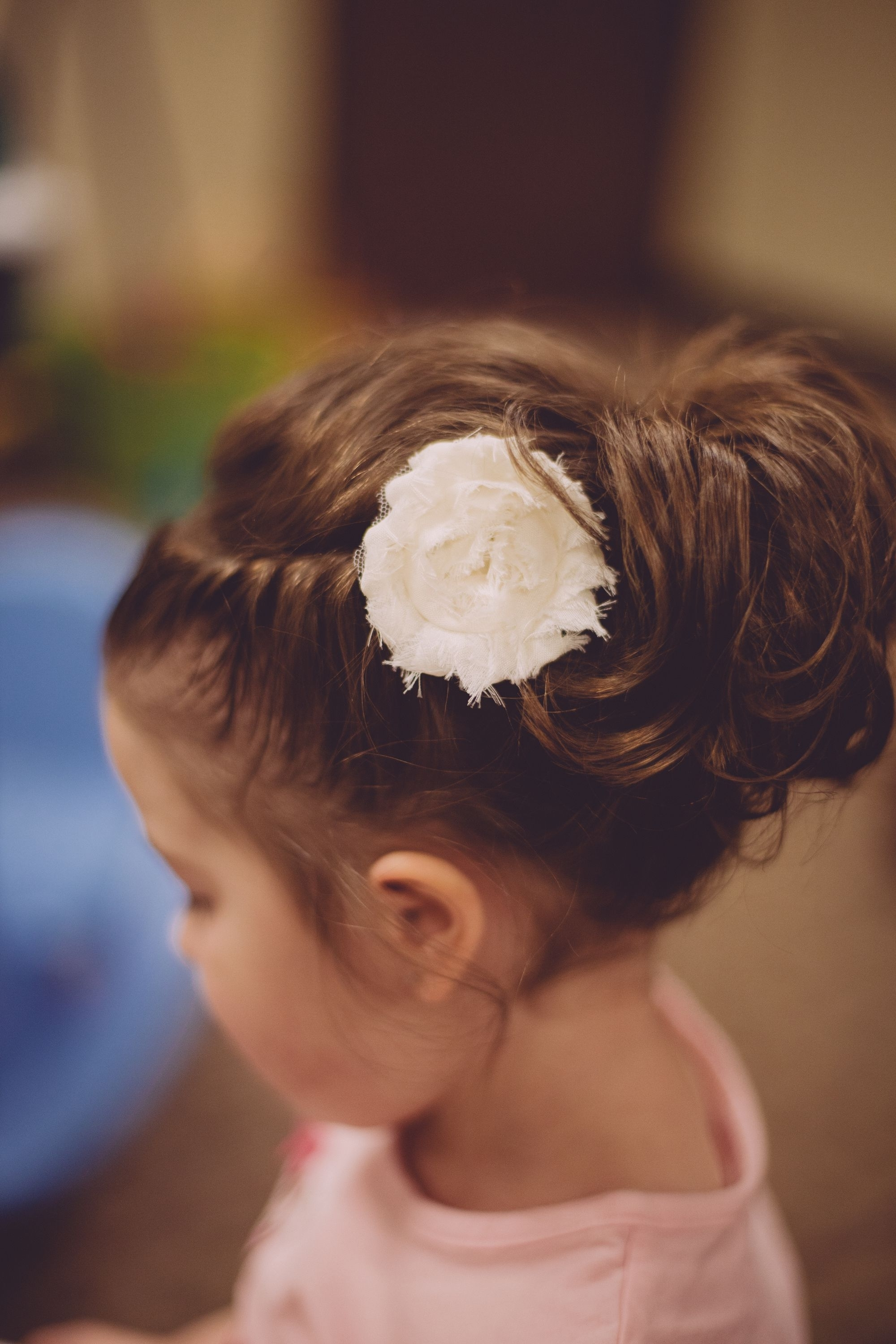 Flower Girl Hair Updo, Braided Twist Into An Upside Down Ponytail With Regard To Well Liked Loosey Goosey Ponytail Hairstyles (View 7 of 20)