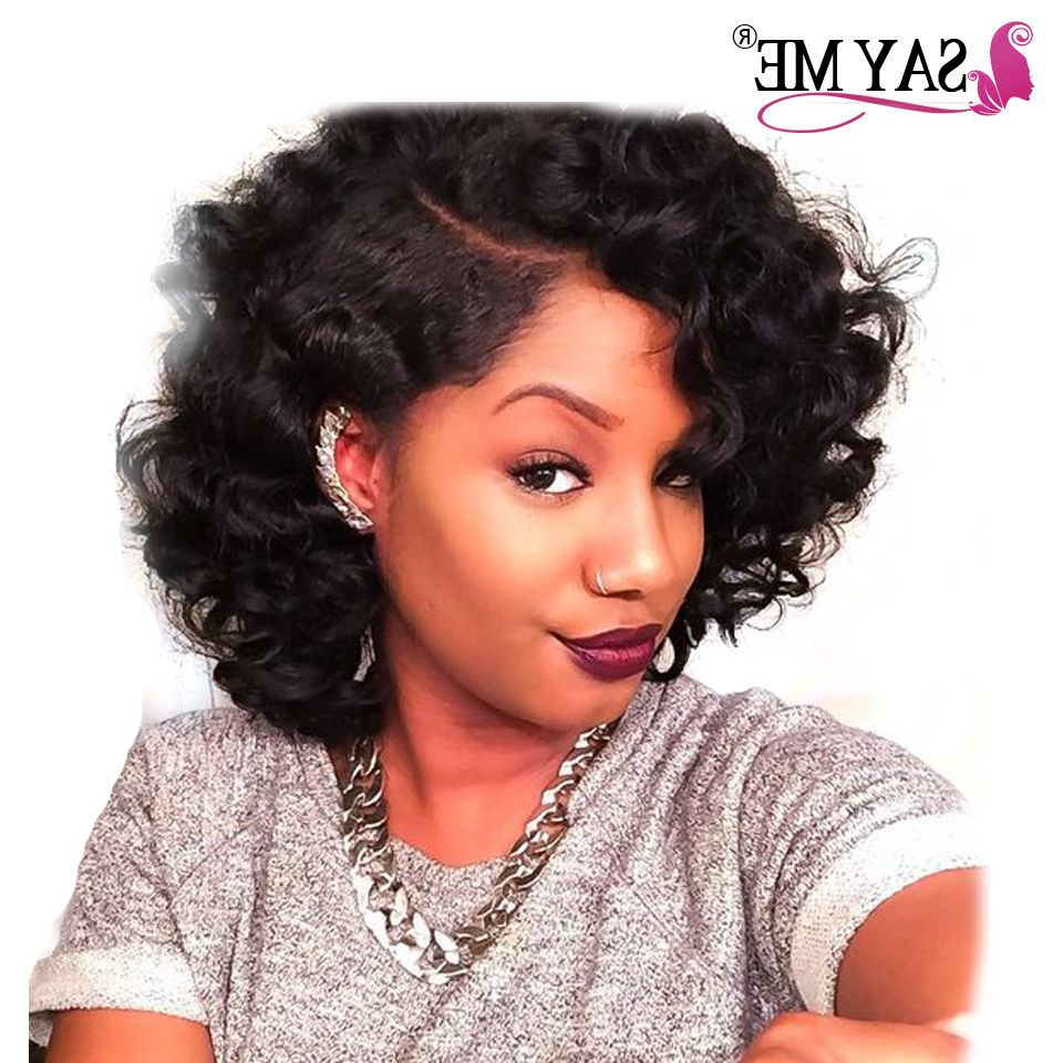 Free Shipping] Buy Best Unprocessed Peruvian Bouncy Curly Hair 100G With Regard To Bouncy Curly Black Bob Hairstyles (View 15 of 20)