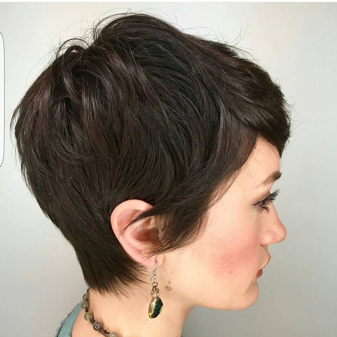 Give Me Just One Word To Describe @kimberlymorganhair Pixie Cut With Regard To Bronde Balayage Pixie Haircuts With V Cut Nape (View 7 of 20)