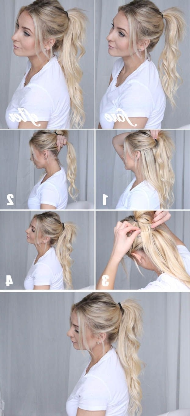 Glam Ponytail Tutorials – Chic Ponytail Tutorial – Simple Hairstyles In Most Current Braided Glam Ponytail Hairstyles (Gallery 10 of 20)