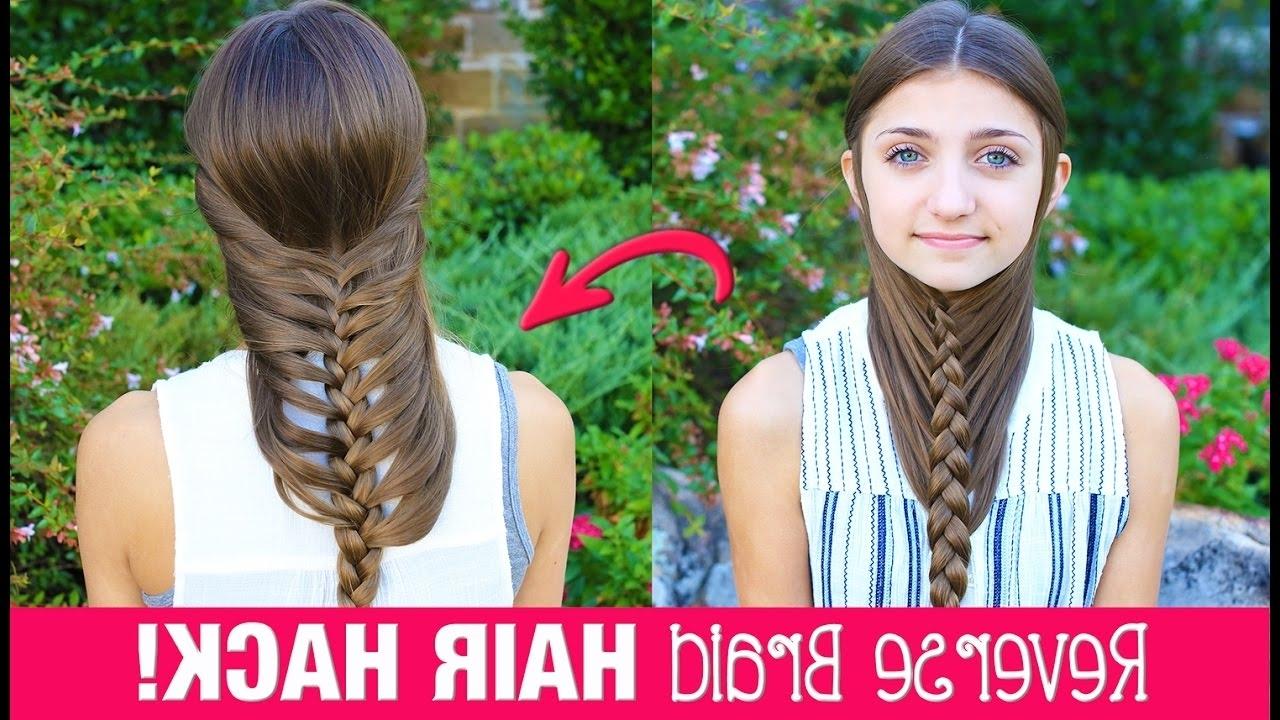 Hair Hack: Diy Reverse Braid In Under 2 Minutes! (View 8 of 20)