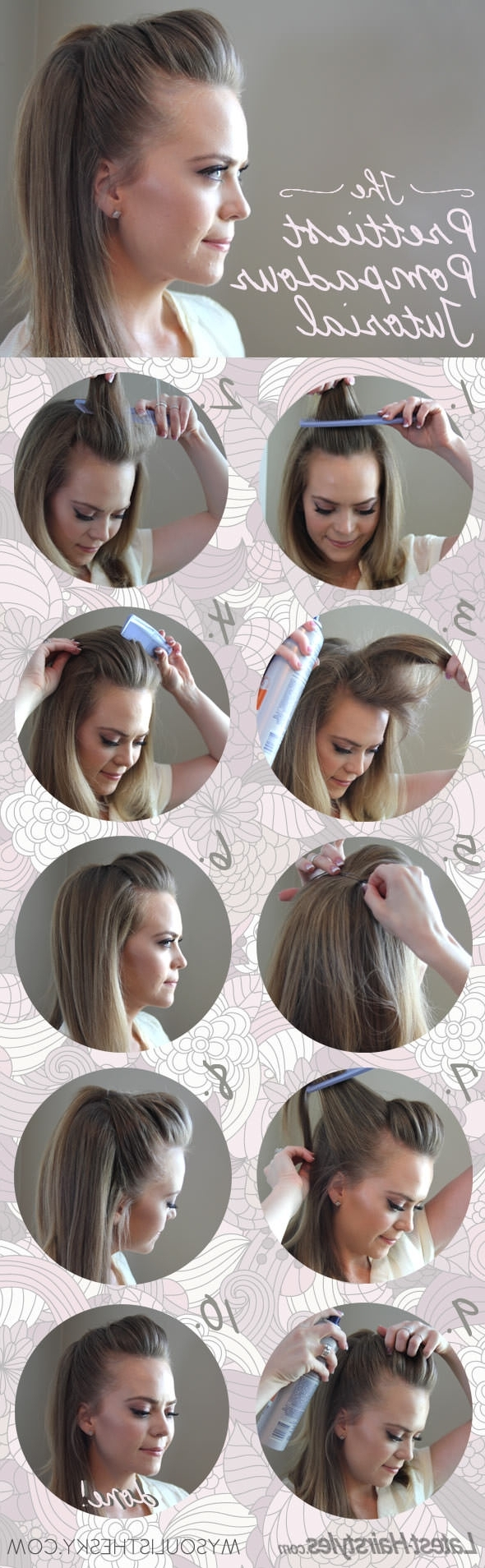 Hair Pertaining To Most Up To Date Messy Blonde Ponytails With Faux Pompadour (View 12 of 20)